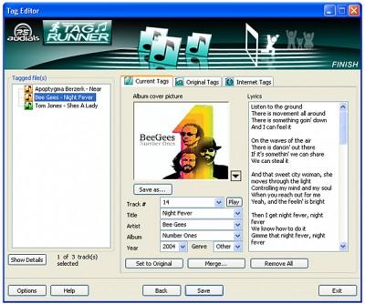 Tagrunner ID3, Lyrics, Cover editor 2.0.0.16 screenshot