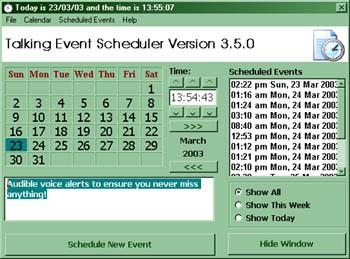 Talking Event Scheduler 3.8.1 screenshot
