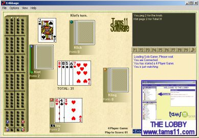 Tams11 Cribbage 2.0.8.14 screenshot