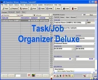 Task, Job Organizer Deluxe 4.11 screenshot
