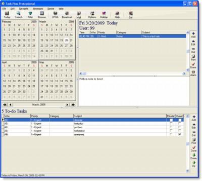Task Plus Professional 4.3.1 screenshot