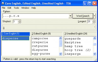 TEA Crossword Helper 2.11 screenshot