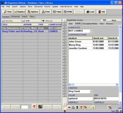 Teacher Organizer Deluxe 4.11 screenshot