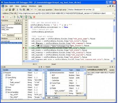 Team Remote ASP Debugger 7.21 screenshot