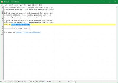 TED Notepad 6.2.1 screenshot
