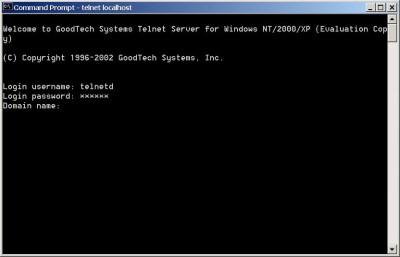 Telnet Server for Windows NT/2000/XP/2003 6.4 screenshot
