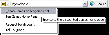 TenGames.net Toolbar (Firefox version) 1.3 screenshot