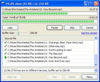 TeraCopy 3.5 screenshot