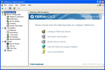 TERAVoice Server 2004 screenshot