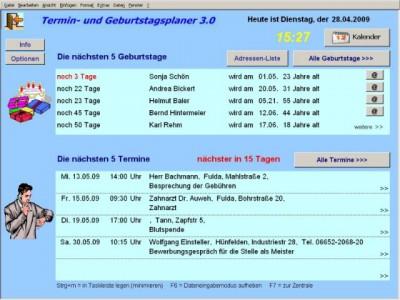 Termin- und Geburtstagsplaner (Excel) 3.0 screenshot