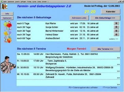Termin- und Geburtstagsplaner (Excel) 2.0 screenshot