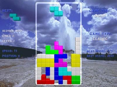 TERMINAL Tetris download 1.2 screenshot
