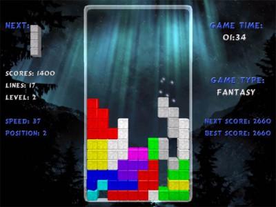TERMINAL Tetris 1.6 screenshot