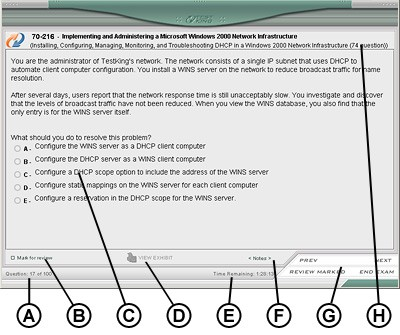 TestKing 9A0-031 Exam Simulator 2.1 screenshot