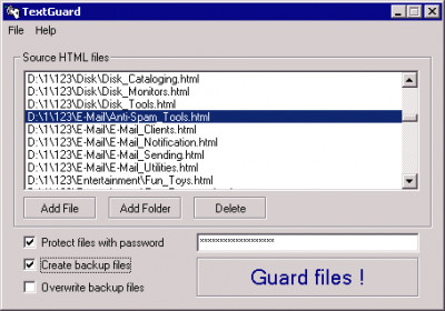 Text Guard 1.1.3390 screenshot