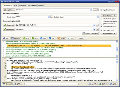 Text Workbench 6.2 screenshot