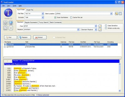 TextCrawler 2.5 screenshot