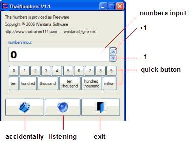 ThaiNumbers 1.3 screenshot