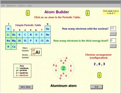 The Atom Builder 1.0 screenshot