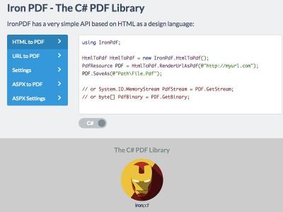 The C# PDF Library 1.0 screenshot