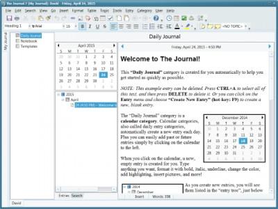 The Journal 7 screenshot