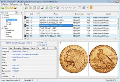The numismatist's safe 1.6 screenshot