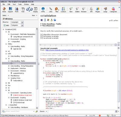 The Scripter's Scrapbook 6.0.21 screenshot