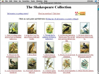 The Shakespeare Collection 1.0 screenshot