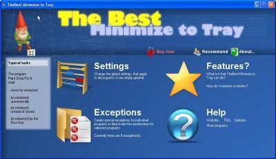 TheBest MinimizeToTray 1.15 screenshot
