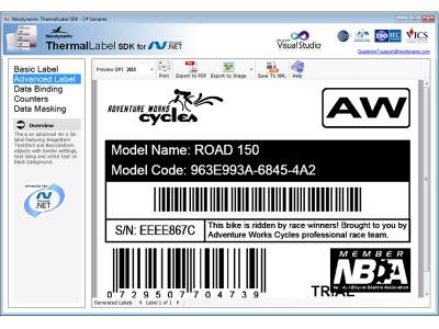 ThermalLabel SDK for .NET 6.0 screenshot