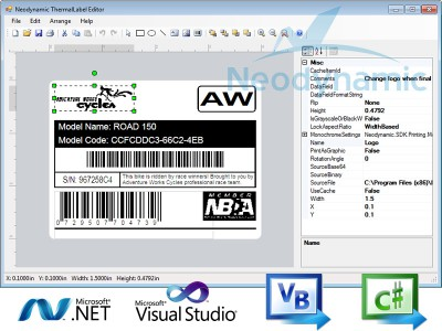 ThermalLabel Visual Editor for .NET 6.0 screenshot