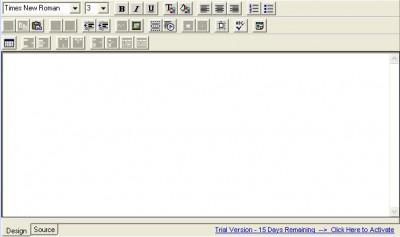 Think HTML Editor Control v 3.9 screenshot