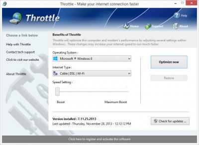 Throttle 8.7.6.2020 screenshot