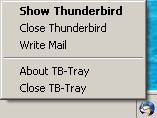Thunderbird-Tray 1.2 screenshot