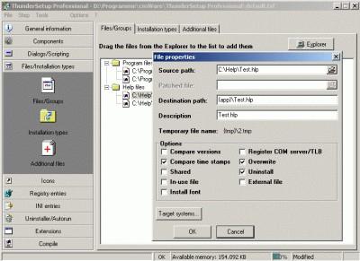 ThunderSetup Professional 2.0 screenshot