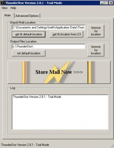 ThunderStor 3.0 screenshot