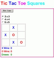 Tic Tac Toe Squares 1.0 screenshot