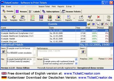 TicketCreator - Eintrittskarten Drucken 4.5 screenshot