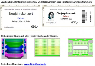 TicketCreator - Eintrittskarten drucken 5.5 screenshot