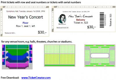 TicketCreator - Print Your Tickets 5.11 screenshot