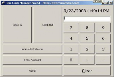 Time Clock Manager Pro 2.1 screenshot