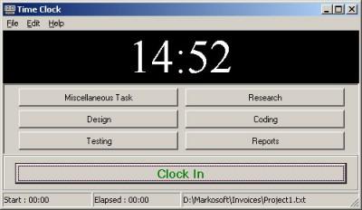 Time Clock 5.0 screenshot