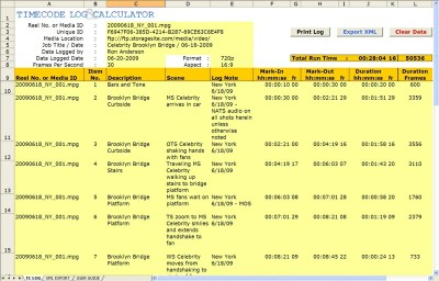 Timecode Log 2.7.0 screenshot