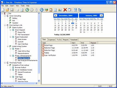 Timeless Time & Expense Personal 2.60.02 screenshot