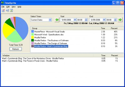 TimeSprite Automatic Time Tracking 2.1.3 screenshot