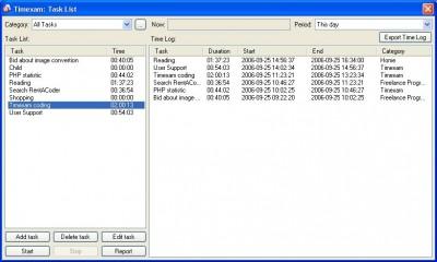 Timexam 2.1 screenshot