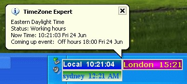 Timezone Expert  world time zone clock Gold Edtion 2.8.01 screenshot