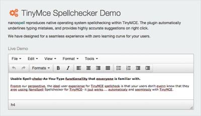 TinyMce Spellchecker Demo f2348e0 screenshot
