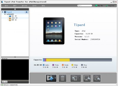 Tipard iPad Transfer for ePub 6.1.30 screenshot