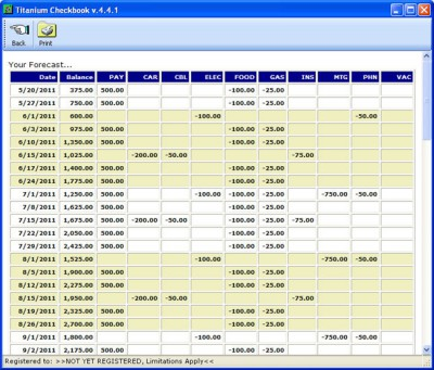Titanium Checkbook 4.3 screenshot